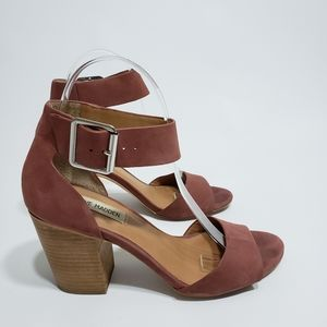 Steve Madden Gerard Dusty Rose Block Heel Sandal